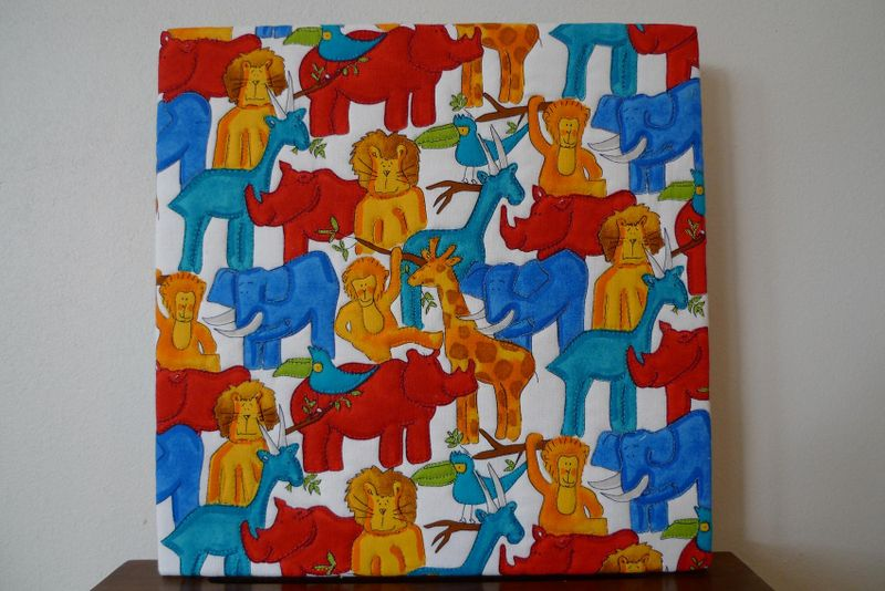 Jungle quilt canvas